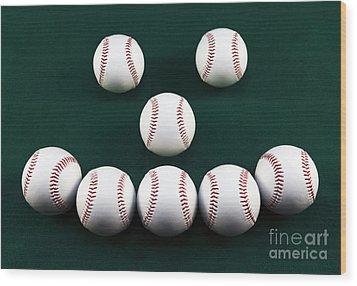 Happy Balls Wood Print by John Rizzuto