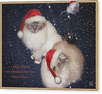 Happy Holidays Wood Print by Gun Legler