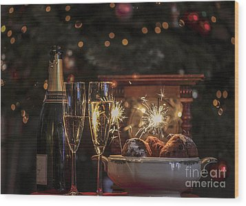 Happy New Year Wood Print by Patricia Hofmeester