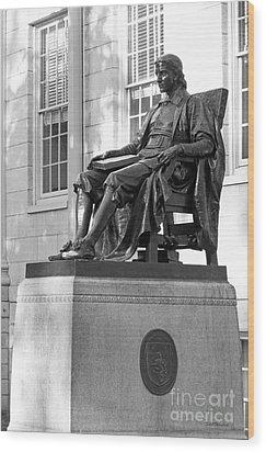 John Harvard Statue At Harvard University Wood Print by University Icons