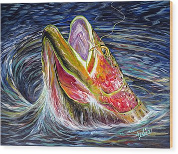 Haunted Waters Wood Print by Teshia Art