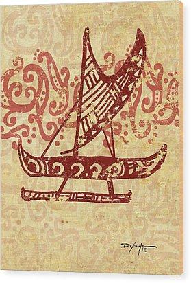Hawaiian Canoe Wood Print by William Depaula
