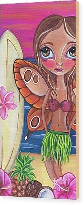 Hawaiian Fairy Wood Print by Jaz Higgins