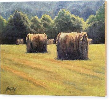 Hay Bales Wood Print by Janet King