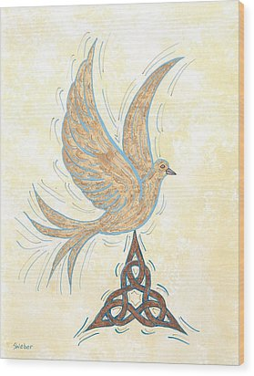 He Set Us Free Wood Print by Susie WEBER