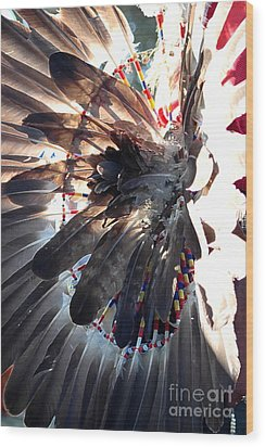 Headress Wood Print by Kathleen Struckle