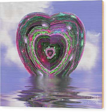 Heart Up Wood Print by Dee Flouton