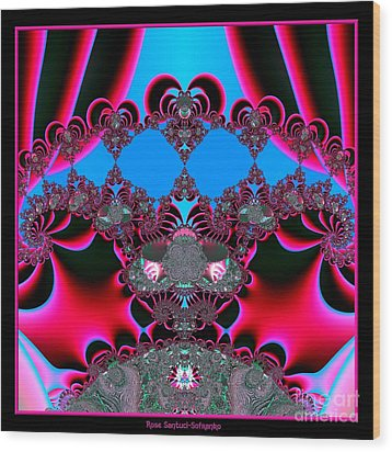 Hearts Ballet Curtain Call Fractal 121 Wood Print by Rose Santuci-Sofranko