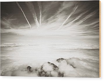 Wood Print featuring the photograph Heaven And Hell by Thierry Bouriat