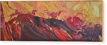 Hell-bent Wood Print by Donna Blackhall
