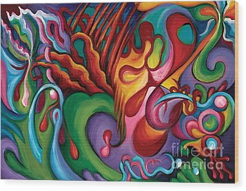 Hendrix Voodoo Magick Wood Print by Tiffany Davis-Rustam