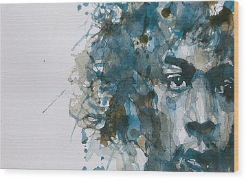 Hendrix Watercolor Abstract Wood Print by Paul Lovering