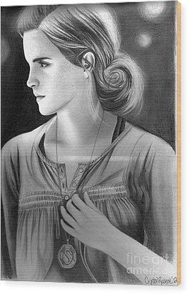 Hermione Granger Wood Print by Crystal Rosene