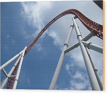 Hershey Park - Storm Runner Roller Coaster - 12123 Wood Print by DC Photographer