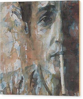 Hey Mr Tambourine Man Wood Print by Paul Lovering
