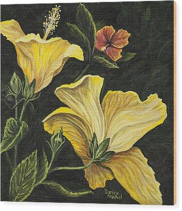 Hibiscus 2 Wood Print by Darice Machel McGuire