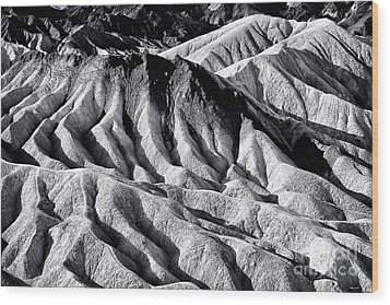 Hiding Places At Death Valley Wood Print by John Rizzuto