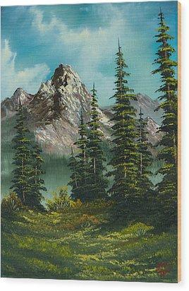 High Meadow Wood Print by C Steele