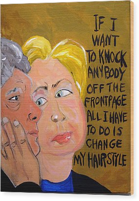 Hillary Wood Print by Jennie Cooley