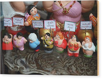 Hilter Doll - Piazza Palio - Khaoyai Thailand - 01131 Wood Print by DC Photographer