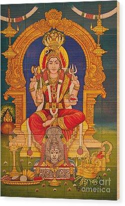 Hindu God Wood Print by Niphon Chanthana