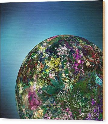 Hippies' Planet 2 Wood Print by Klara Acel