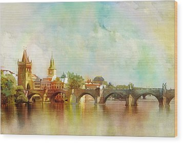 Historic Centre Of Prague  Wood Print by Catf