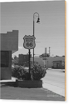 Historic Route 66 Wood Print by Mel Steinhauer