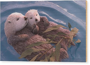 Holding Hands Wood Print by Gary Hanna