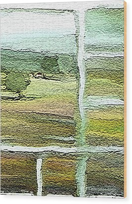 Home Alone As A  Patchwork Quilt Wood Print by Lenore Senior