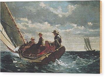 Homer, Winslow 1830-1910. Breezing Up A Wood Print by Everett