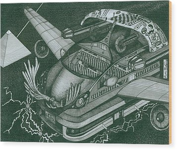 Honda Fit Wood Print by Richie Montgomery