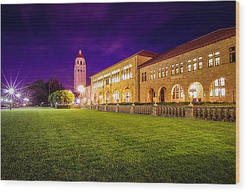 Hoover Tower Stanford University Wood Print by Scott McGuire