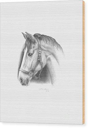 Horse-2 Wood Print by Lee Updike