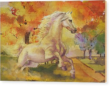 Horse Paintings 003 Wood Print by Catf