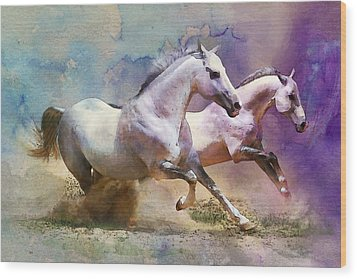 Horse Paintings 004 Wood Print by Catf