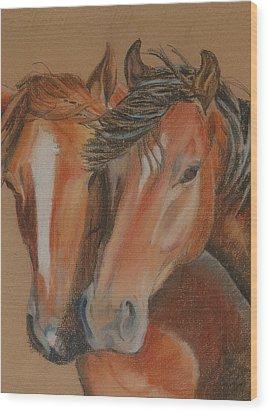 Horses Looking At You Wood Print by Teresa Smith