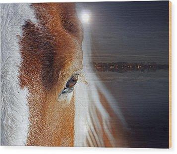 Horses  Wood Print by Mark Ashkenazi