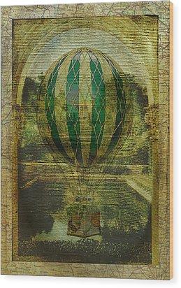 Hot Air Balloon Voyage Wood Print by Sarah Vernon