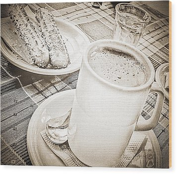 Hot Chocolate In Cold Ushuaia Wood Print by Julie Palencia