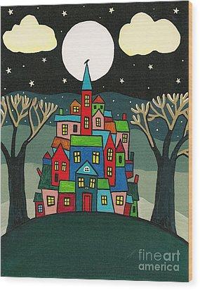 House Of The Crow Wood Print by Margaryta Yermolayeva