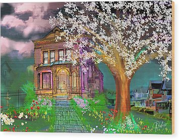 House On Milbert Street Wood Print by Gerry Robins