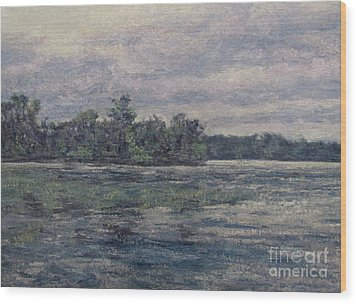 Hudson River Dusk Wood Print by Gregory Arnett