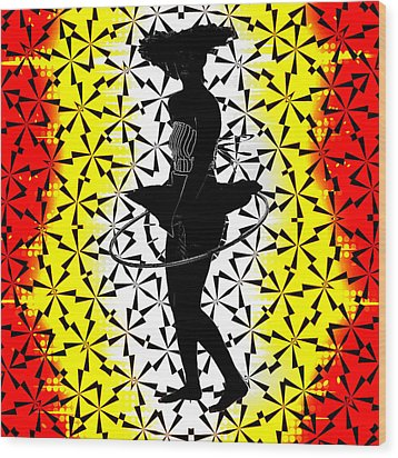 Hula Hoop Kaleidoscope Wood Print by Amber Summerow