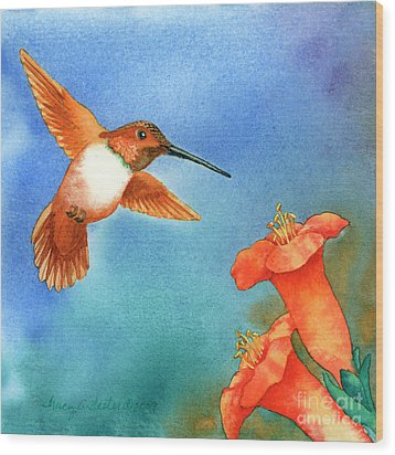 Hummer Wood Print by Tracy L Teeter