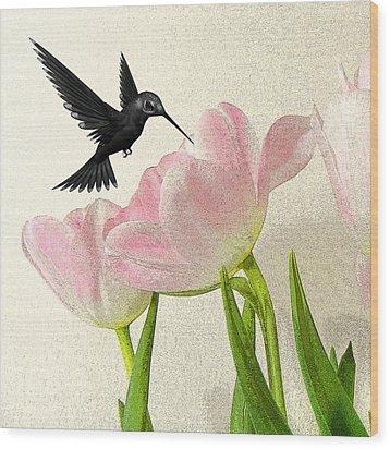 Hummingbird Wood Print by Sharon Lisa Clarke