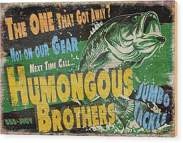Humongous Brothers Wood Print by JQ Licensing