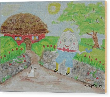 Humpty's House Wood Print by Diane Pape