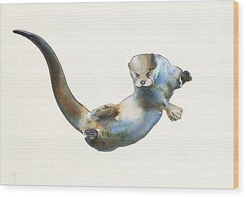 Hunter Wood Print by Mark Adlington