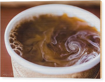 Hurricane In A Cup Wood Print by Hastings Franks